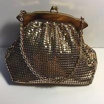 Vintage Whiting & Davis Co. Gold Mesh Small Formal Handbag Purse Photo