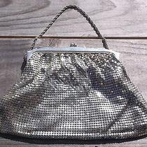 Vintage Whiting & Davis Co Silver Tone Metal Mesh Ladies Hand Bag Purse Usa Nr Photo