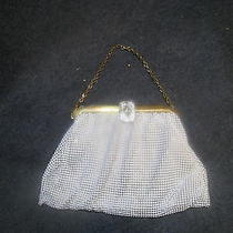 Vintage Whiting & Davis Co White Mesh Purse Evening Bag  Photo