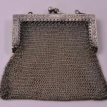 Vintage Whiting & Davis Company German Silver Soldered Mesh Coin Change Purse Photo