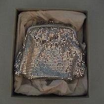 Vintage Whiting & Davis Company Silver Mesh Handbag Purse With Original Box Photo