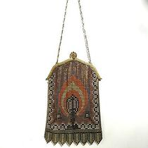 Vintage Whiting Davis Enameled Mesh Purse Handbag Bag Candle Photo