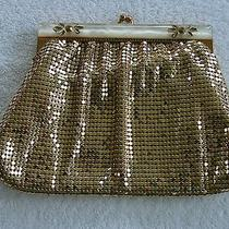 Vintage Whiting & Davis Gold Mesh Bag With Mother of Pearl Trim Photo