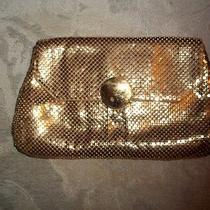 Vintage Whiting & Davis Gold Mesh Clutch Purse Snap Metallics Designer Made Usa Photo