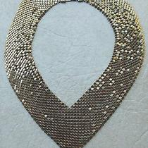 Vintage Whiting & Davis Gold Mesh Collar Choker Necklace Photo