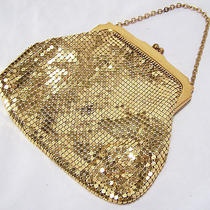 Vintage Whiting Davis Gold Mesh Purse Bag Chain Handle Lined Made in Usa 115d Photo