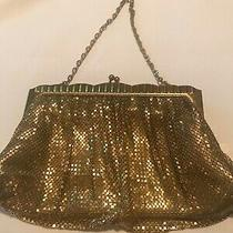 Vintage Whiting & Davis Gold Mesh Purse Hand Bag Photo
