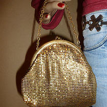 Vintage Whiting & Davis Gold Metal Mesh Handbag  Purse Photo