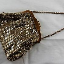 Vintage Whiting & Davis Gold Tone Mesh Bag Purse Photo