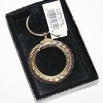 Vintage Whiting & Davis Gold Tone Mesh Key Chain Ring Fob Original Box Tag 1929 Photo