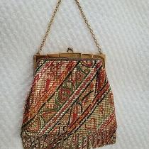 Vintage Whiting & Davis Gorgeous Enamel Mesh Purse Chain Snap Close Made in Usa  Photo