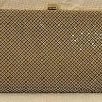 Vintage Whiting & Davis Int'l Beige Metal Mesh Purse Clutch Tan Neutral Mesh  Photo