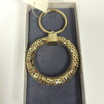 Vintage Whiting & Davis Marshall Fields Nwt Gold Metal Key Chain Ring in Box  Photo