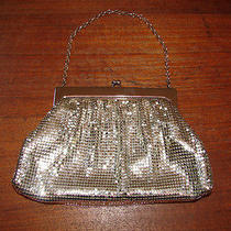 Vintage Whiting & Davis Matte Metal Mesh Silver Purse Handbag W/ Orig. Box Photo