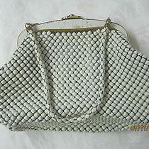 Vintage Whiting & Davis Mesh Bag Purse 3007 Metal White Enamel Usa Photo