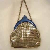 Vintage Whiting Davis Mesh Purse Handbag Bag Painted Frame Photo