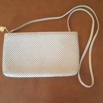 Vintage Whiting & Davis Metal Mesh Shoulder Bag Cream Off White Photo