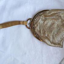 Vintage Whiting & Davis Metal Mesh Wrist Purse Evening Bag Wristlet Signed Photo