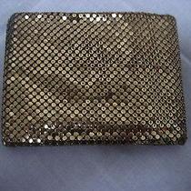 Vintage Whiting & Davis Metallic Gold Mesh Wallet Billfold Perfect for Gift Card Photo