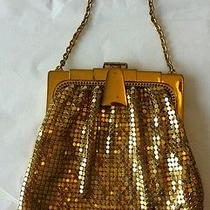 Vintage Whiting Davis Metallic Gold Metal Purse Photo