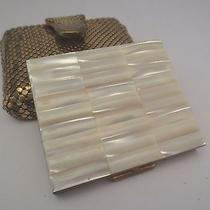Vintage Whiting & Davis Oromesh Purse With Mother of Pearl Powder Compact Photo