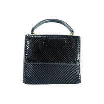 Vintage Whiting & Davis Purse Black Mesh Sequin Evening Bag Sequin .beaded 8