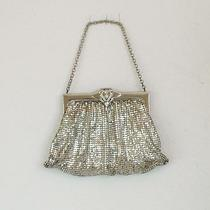 Vintage Whiting & Davis Silver Mesh Metal Purse From the 50's Photo