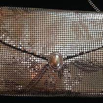 Vintage Whiting & Davis Silver Mesh Purseart Deco Pearl Clasp   Photo