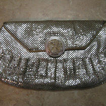 Vintage Whiting & Davis Silver Metal Mesh Evening Bag/purse Rhinestone Clasp Photo
