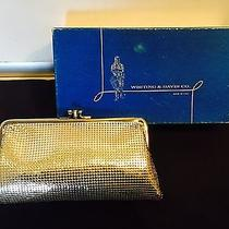 Vintage Whiting & Davis Silver Snap Purse Clutch 11 Photo