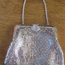 Vintage Whiting & Davis Sml Silver Mesh Evening Bag Purse Rhinestone Clasp 29202 Photo