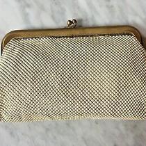 Vintage Whiting & Davis Snap Closure Ivory Gold Mesh Purse Clutch Evening Bag Photo