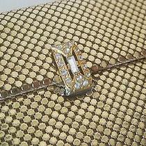 Vintage Whiting & Davis Usa Gold  Mesh Envelope Purse Wallet Rhinestone Clasp Photo