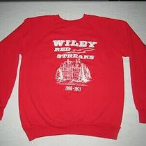 Vintage Wiley High School Terre Haute Red Streaks Sweatshirt Adult Size Xl Usa Photo