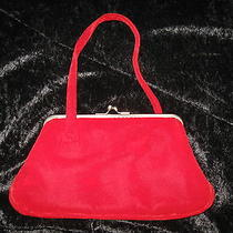 Vintage Woman's the Limited Velvet Clutch Purse With Small Wrist Strap Photo