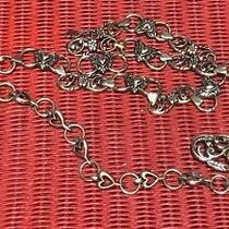 Vintage Women Brighton Metal Heart Chain Belt Large 41