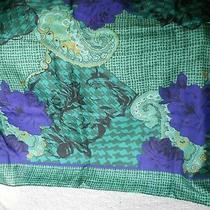 Vintage Women's Christian Dior E Charpes Silk Scarf Blue & Purple 30