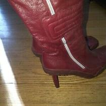 Vintage Women's Diesel Red Leather Boots Photo
