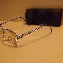 Vintage Women's Fendi F48 Gunmetal Prescription Bifocal Eyeglasses W/ Case Photo