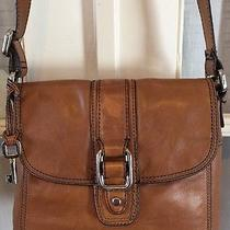 Vintage Women's Fossil Crossbody Purse Brown Leather Long Live Vintage Photo