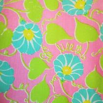 Vintage Womens Lilly Pulitzer Skirt Name in vines&lace Chartreuse/pink 31