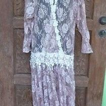 Vintage Womens Dress Jessica Mcclintock  Lace Photo