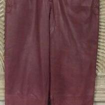 Vintage Womens Escada Margaretha Ley Rust Leather Pants Size 38   Photo