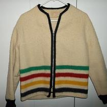 Vintage Womens Hudson's Bay Canada Wool Striped Point Blanket Jacket Size Medium Photo