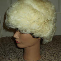 Vintage Womens Tuscan Lamb Fur Hat Hippie Boho Bonnet Hat Made in Italy Photo