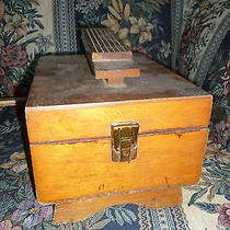 Vintage Wood Shoe Shine Box Photo