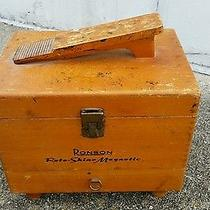 Vintage Wood Shoe Shine Box Old School Great Display Piece or Use as Is Roto Nr Photo