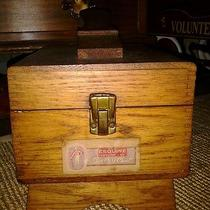Vintage Wood Shoe Shine Box With Accessories by Esquire  Photo