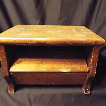 Vintage Wood Shoe Shine Box With Brushes Photo