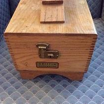 Vintage Wooden Griffin Shinemaster Shoe Shine Box Photo